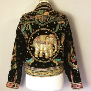 Vintage Heavily Embroidered Indian Thai Jacket L